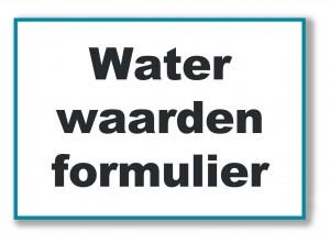 waterwaarden formulier