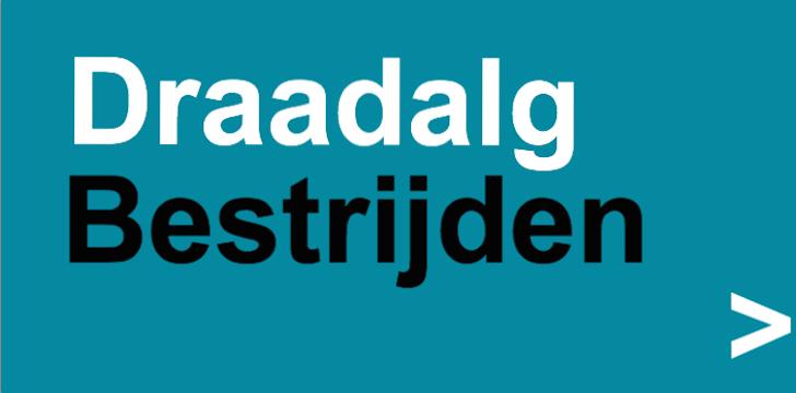 banner draadalg bestrijden