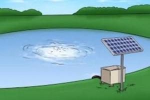 Vijverpomp op zonne energie