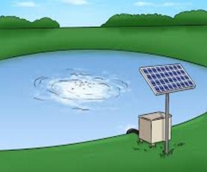vijverpomp op zonne-energie